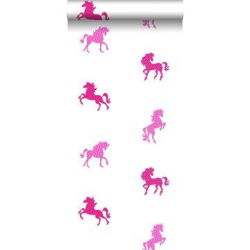 tapet hästar rosa