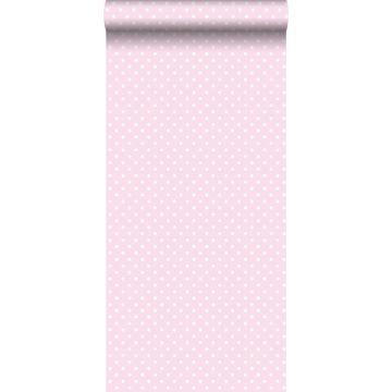tapet prickar milt rosa och vitt