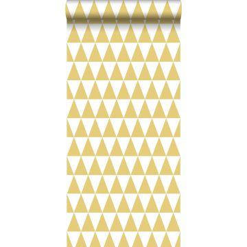 tapet grafiska trianglar ockra