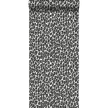 tapet pantrar svart och vitt