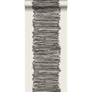 tapet tidningar svart och vitt