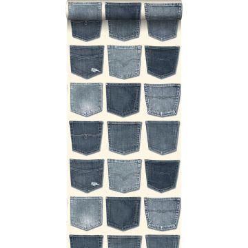 tapet jeansfickor ljusblått