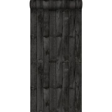 tapet träeffekt svart