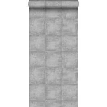 tapet betonglook grått