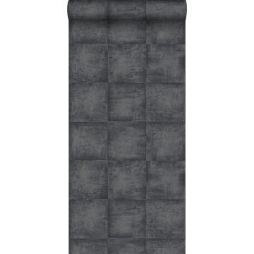 tapet betonglook svart