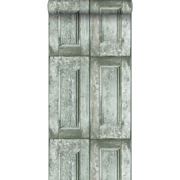 tapet paneldörrar havsgrönt