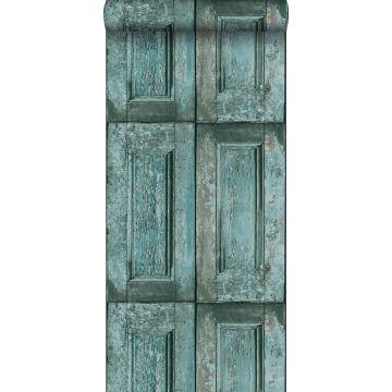 tapet paneldörrar turkost