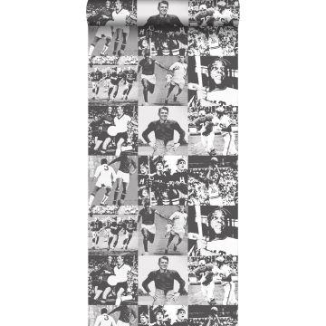 tapet sporthjältar svart och vitt