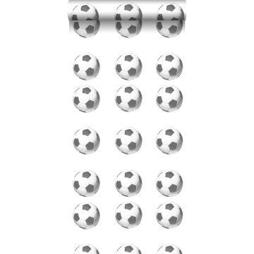 tapet fotbollar svart och vitt