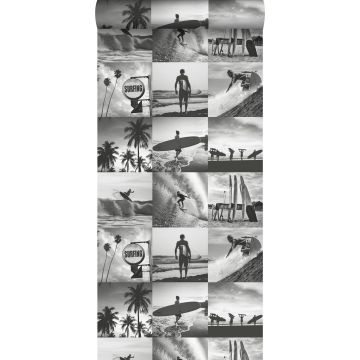 tapet bild av surfare mörkgrått