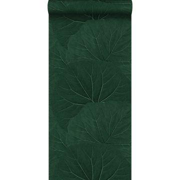 tapet stora blad smaragdgrönt