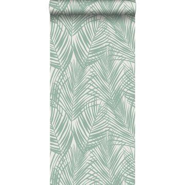 tapet palmblad mintgrönt