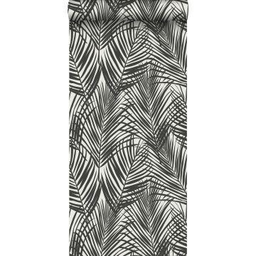 tapet palmblad svart och vitt