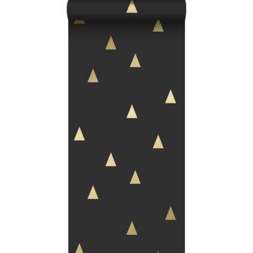 tapet grafiska trianglar svart och guld