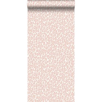 tapet leopardskinn milt rosa