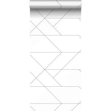 tapet grafiska linjer svart och vitt