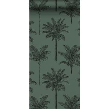 tapet palmer mörkgrönt