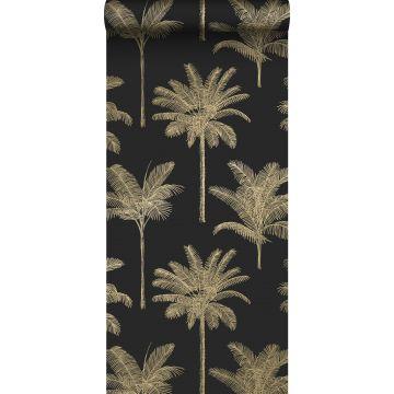 tapet palmer svart och guld