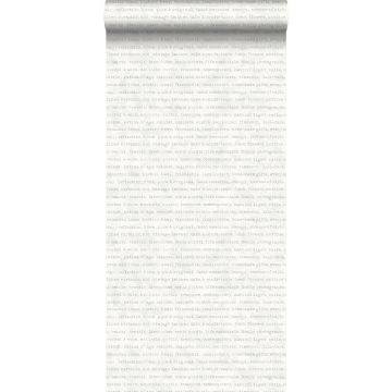 tapet text grått på melerad vit bakgrund
