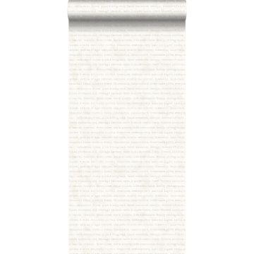 tapet text beige på melerad vit bakgrund