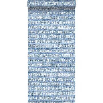 tapet somrig text blått
