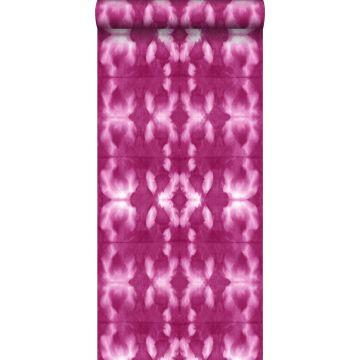 tapet shibori batik-mönster intensivt fuchsiarosa