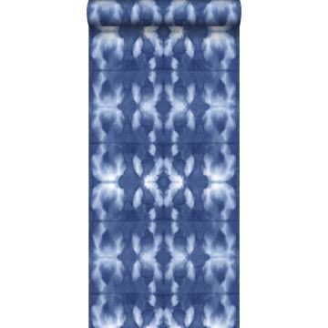 tapet shibori batik-mönster indigoblått