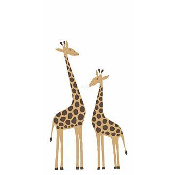 fototapet giraff beige