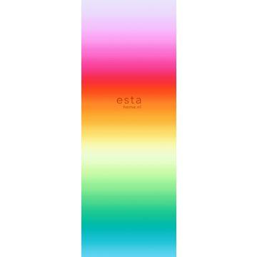fototapet regnbåge rosa, rött och orange