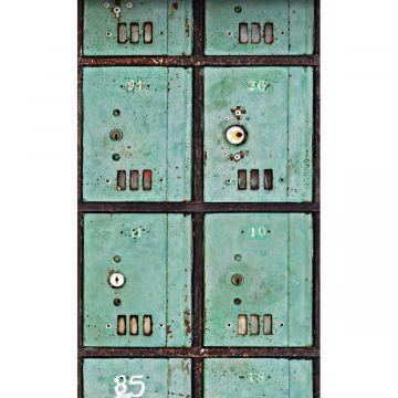 fototapet brevlådor havsgrönt