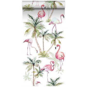 tapet XXL flamingos rosa
