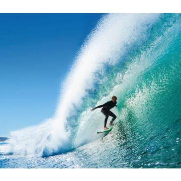 fototapet surfare blått och havsgrönt
