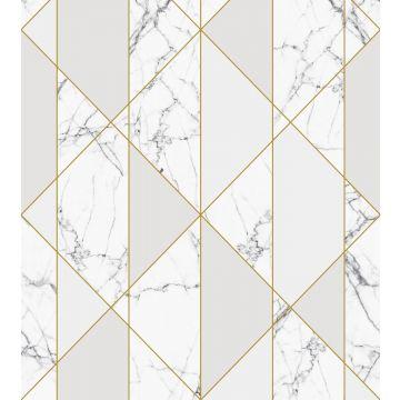 fototapet marmor svart och vitt, grått och guld