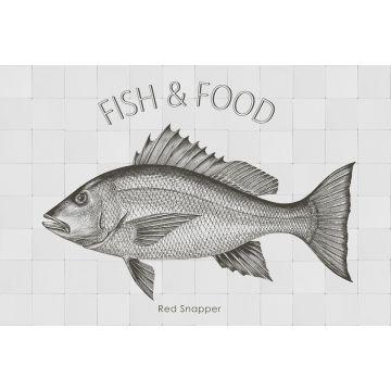 wallsticker fisk svart