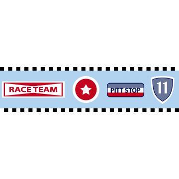 tapetbård racerteam-emblem himmelsblått