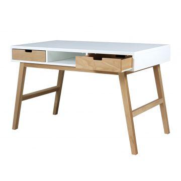 skrivbord Lynn vitt och naturlig